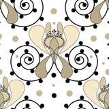 Uitstekende naadloze de textuurachtergrond van patroon retro elementen Stock Afbeeldingen