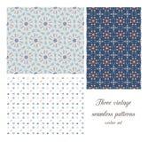 Uitstekende naadloze patronen Stock Afbeelding
