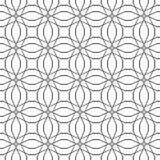 Uitstekende naadloze textuur Decor voor behang Traditioneel decor op zwarte achtergrond Royalty-vrije Stock Foto