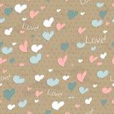 Uitstekende naadloze textuur met harten. stock illustratie