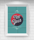 Uitstekende Nieuwjaaraffiche. Royalty-vrije Stock Foto