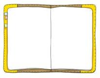 Uitstekende notitieboekjekunst het schilderen illustratie Stock Afbeeldingen