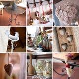 Uitstekende objecten collage royalty-vrije stock afbeelding