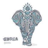 Uitstekende olifantsillustratie Stock Afbeelding