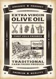 Uitstekende olijfolieaffiche Royalty-vrije Stock Foto