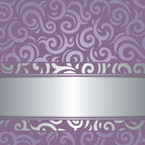 Uitstekende ontwerp lavendel het Violette vector van de achtergrondhuwelijksluxe Royalty-vrije Stock Fotografie