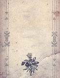 Uitstekende ontwerpelementen op oud document blad Stock Afbeeldingen