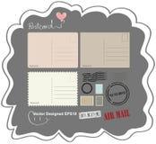 Uitstekende ontworpen prentbriefkaar Stock Foto
