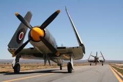 Uitstekende oorlogsvliegtuigen Royalty-vrije Stock Foto's