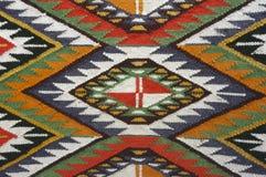 Uitstekende, oosterse, kleurrijke met de hand gemaakte traditionele wollen deken 10 Stock Foto