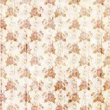 Uitstekende oranje en witte grungy bloemen en houten korrelontwerp als achtergrond royalty-vrije illustratie