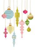 Uitstekende Ornamenten X'mas stock illustratie