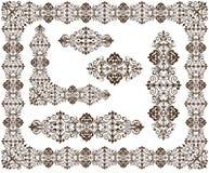 Uitstekende ornamentenkaders, hoeken, grenzenontwerp Royalty-vrije Stock Foto's
