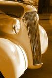 uitstekende oude auto antieke grill Stock Fotografie