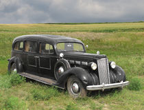 Uitstekende oude automobiele lijkwagen. Royalty-vrije Stock Afbeelding