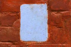 Uitstekende oude bakstenen muurtextuur met copyspace stock afbeeldingen