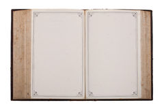 Uitstekende oude bijbel met oude blanco pagina's Royalty-vrije Stock Foto's