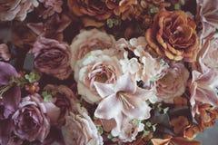 Uitstekende oude bloemachtergronden Royalty-vrije Stock Foto's