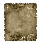 Uitstekende oude geïsoleerden klokkenkaart vector illustratie