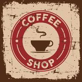 Uitstekende Oude Retro signage van het Koffieteken vector illustratie