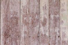 Uitstekende oude sjofele houten geschilderd met gebarsten kleurenachtergrond Stock Afbeelding