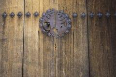 Uitstekende oude stijl Aziatische deur Stock Foto