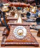 Uitstekende Oude Telefoon Royalty-vrije Stock Foto's