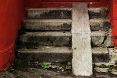 Uitstekende oude tredeloopvlakken Stock Foto