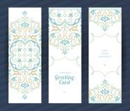 Uitstekende overladen kaarten in Oostelijke stijl Royalty-vrije Stock Afbeeldingen