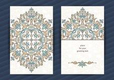 Uitstekende overladen kaarten in Oostelijke stijl Stock Afbeelding