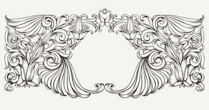 Uitstekende Overladen Kaderachtergrond Royalty-vrije Stock Afbeelding