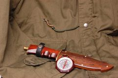 Uitstekende padvinders van Amerika kompas met de jacht Stock Foto's