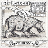 Uitstekende Pagina van Besnoeiing van Hippogriph Royalty-vrije Stock Foto's