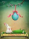 Uitstekende Pasen-prentbriefkaargroet royalty-vrije illustratie