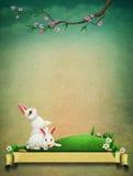 Uitstekende Pasen-prentbriefkaargroet vector illustratie