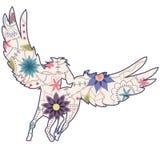 Uitstekende Pegasus royalty-vrije illustratie