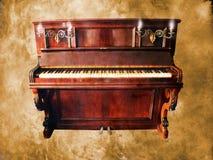 Uitstekende piano op grunge Royalty-vrije Stock Foto