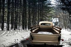 Uitstekende pick-up op oprijlaan Stock Foto's