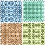 Uitstekende plaid abstracte patronen geplaatst vectorontwerp Royalty-vrije Stock Foto's