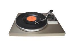 Uitstekende platenspeler met vinylverslag Stock Afbeelding