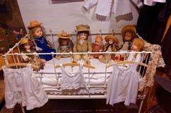 Uitstekende poppeninzameling Royalty-vrije Stock Foto's