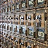 Uitstekende postkantoordozen Stock Afbeeldingen