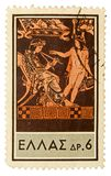Uitstekende postzegel Stock Afbeeldingen