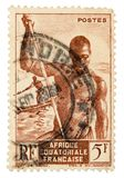 Uitstekende postzegel Stock Foto's