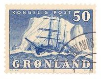 Uitstekende postzegel royalty-vrije stock foto