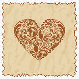 Uitstekende prentbriefkaar. Royalty-vrije Stock Afbeelding