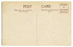 Uitstekende prentbriefkaar Royalty-vrije Stock Afbeelding