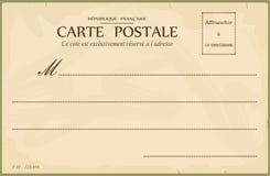 Uitstekende prentbriefkaar Royalty-vrije Stock Afbeeldingen
