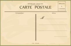 Uitstekende prentbriefkaar Stock Afbeelding
