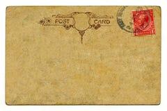 Uitstekende prentbriefkaar Royalty-vrije Stock Foto's